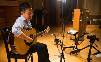 Lシリーズギターの弾き比べムービー撮影に行ってきた!