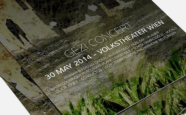今回の特別コンサート「GEZI CONCERT」のパンフレット。5月30日に開催された。