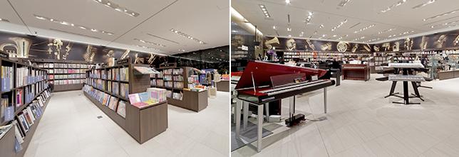 ヤマハ大阪1F 鍵盤楽器・楽譜・音楽書籍売場